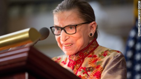 U.S. Supreme Court Justice Ruth Bader Ginsburg speaks at an annual Women's History Month reception hosted by Pelosi in the U.S. capitol building on Capitol Hill in Washington, D.C. This year's event honored the women Justices of the U.S. Supreme Court: Associate Justices Ruth Bader Ginsburg, Sonia Sotomayor, and Elena Kagan.