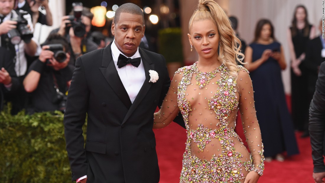 Jay Z and Beyonce arrive at the Met Gala in New York on May 4.