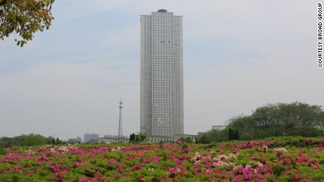 The Mini Sky City tower in the city of Changsha, China.