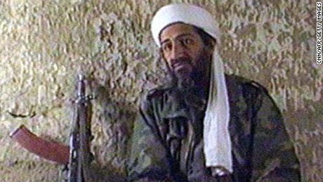 UNDISCLOSED, AFGHANISTAN - JANUARY 1:  Recent TV grab of Saudi Arabian dissident Osama Bin Laden  aired 11 May as he answers to a journalist's questions in an undisclosed   location in Afghanistan, late March and begining of April.  Laden is a billionaire wanted by the United States and Saudi Arabia on charges of financing international terrorism.--COURTESY CNN 'S NEWS MAGAZINE IMPACT--  (Photo credit should read CNN/AFP/Getty Images)