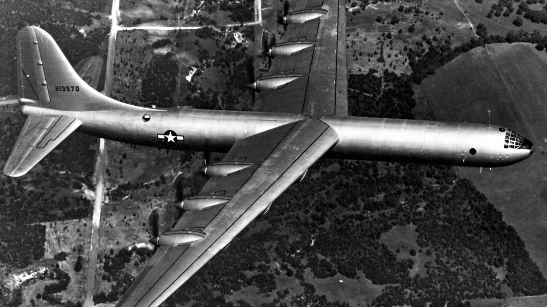 The Convair B-36 Peacemaker was a bomber used by the United States Air Force during the 1950s. Before 1955, it was used primarily for nuclear weapons delivery for the Strategic Air Command.