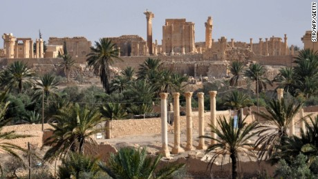Caption:A general view taken on May 18, 2015 shows the ancient Syrian city of Palmyra, a day after Islamic State (IS) group jihadists fired rockets into the city, killing several people. Fierce clashes have rocked Palmyra's outskirts since IS launched an offensive on May 13 to capture the 2,000-year-old world heritage site nicknamed 'the pearl of the desert'. AFP PHOTO /STR (Photo credit should read STR/AFP/Getty Images)
