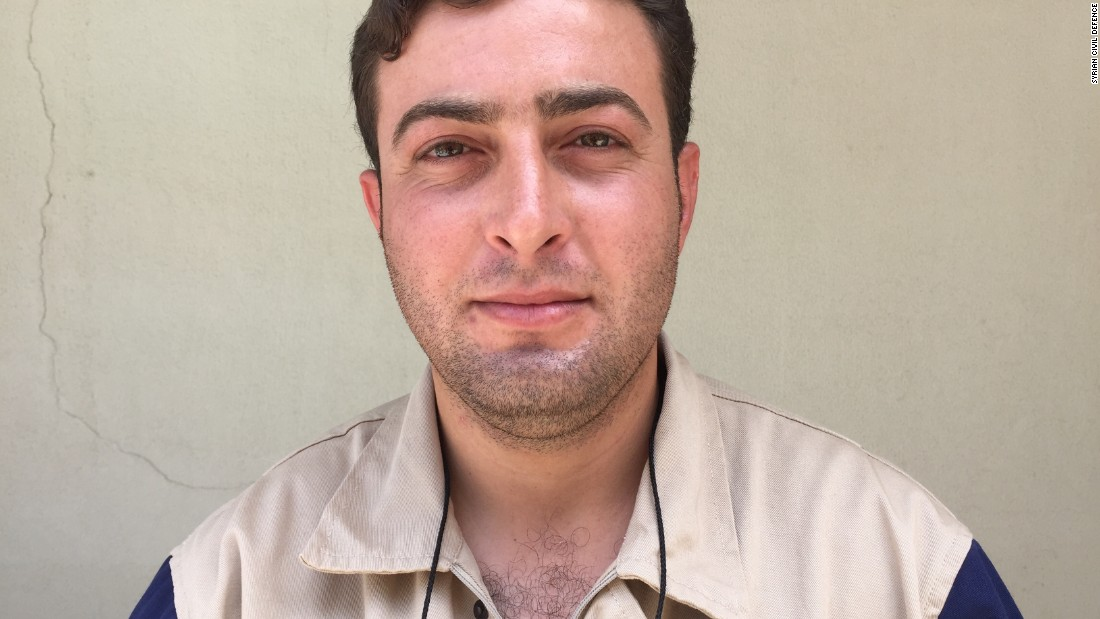"Ahmad Rahhal, 27. Policeman. ""First, two of our guys went in for the rescue and were 'double tapped.' We went in to rescue them and searched for other survivors. We found three young girls alive and well, plus an infant, who unfortunately died at the hospital."" Ahmad received a round of applause from the rest of the White Helmets when he announced he is getting married next week when he returns to Syria."