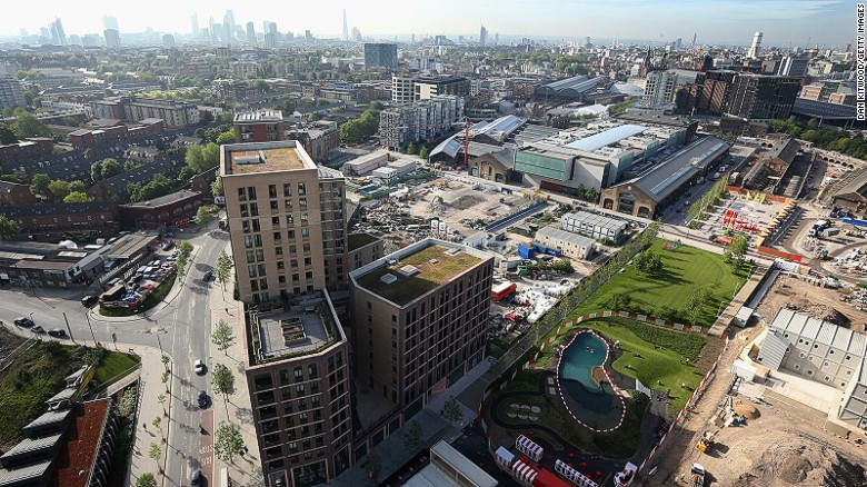 A major regeneration project is transforming the formerly down-at-heel Kings Cross area.