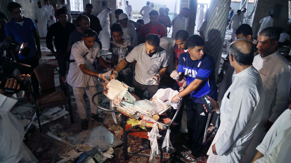 People search through debris after an explosion at a Shiite mosque in Qatif, Saudi Arabia, on Friday, May 22. ISIS lt;a href=quot;http://edition.cnn.com/2015/05/22/middleeast/saudi-arabia-mosque-blast/index.htmlquot; target=quot;_blankquot;gt;claimed responsibility for the attack,lt;/agt; according to tweets from ISIS supporters, which included a formal statement from ISIS detailing the operation.