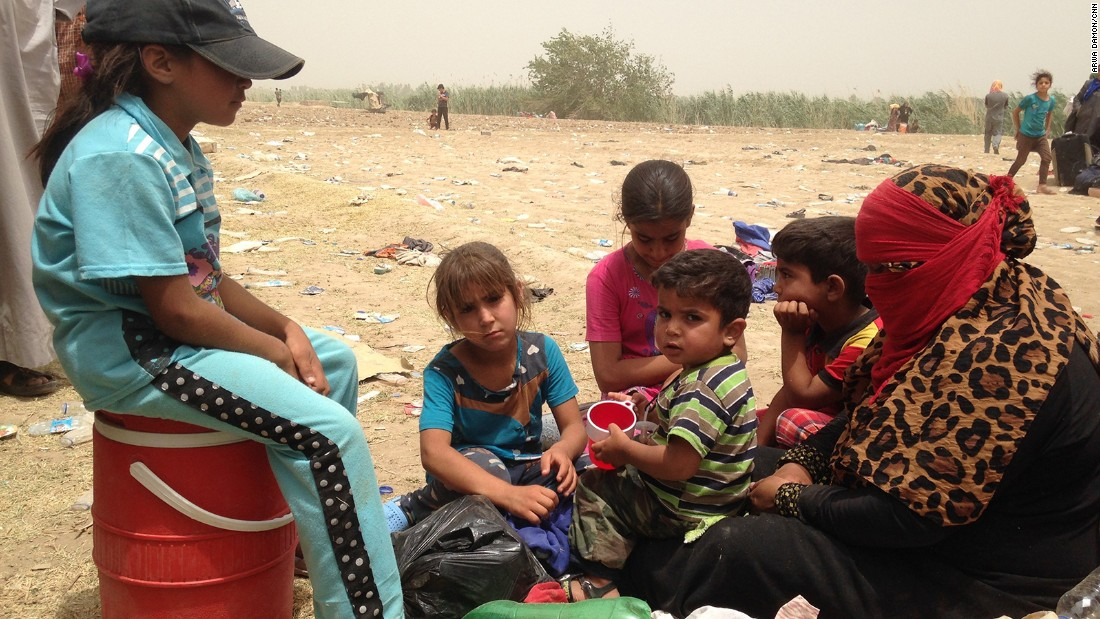 People fleeing ISIS left with nothing but the clothes they were wearing.