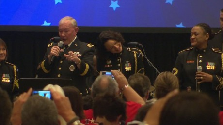general martin dempsey sings his heart out_00013426