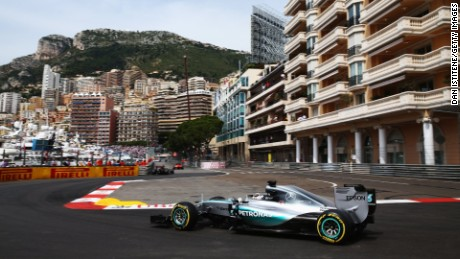 Lewis Hamilton of Great Britain and Mercedes GP drives during final practice for the Monaco Formula One Grand Prix at Circuit de Monaco on May 23, 2015 in Monte-Carlo, Monaco. (Photo by Dan Istitene/Getty Images)