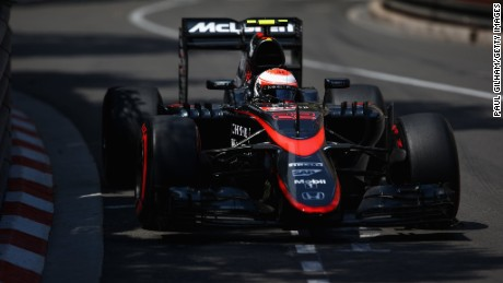 MONTE-CARLO, MONACO - MAY 24: Jenson Button of Great Britain and McLaren Honda drives during the Monaco Formula One Grand Prix at Circuit de Monaco on May 24, 2015 in Monte-Carlo, Monaco. (Photo by Paul Gilham/Getty Images