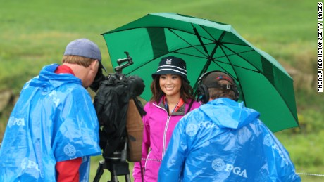 Journalist Stephanie Wei, center, says she had her PGA Tour credentials revoked after Periscoping from a tour event.