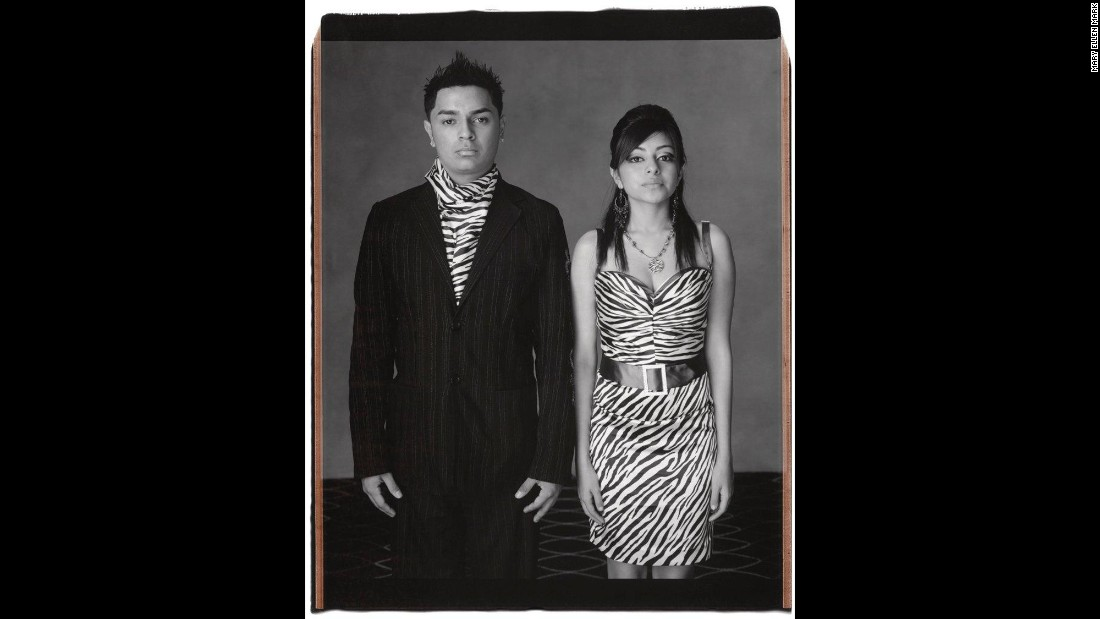 Michael Gonzales and Veronica Castillo pose in Houston in 2008.