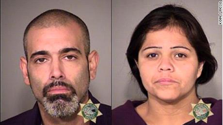 David Vasquez, 33, and his girlfriend, Ruth Orozco-Rivera, 28, shown in jail booking photos