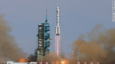 In June 2013, China launched three astronauts into orbit for the country#39;s fifth and longest crewed mission in its burgeoning space exploration program.