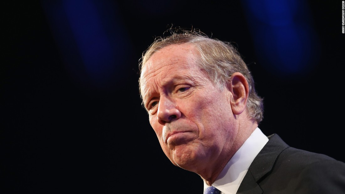 "Former New York Gov. George Pataki formally <a href=""http://www.cnn.com/2015/05/28/politics/george-pataki-presidential-announcement-2016/index.html"" target=""_blank"">announced</a> his bid for the White House in a YouTube video released on May 28. The Republican served three terms as New York's governor, including during the 9/11 attacks.<br /><br />""My vision was not a partisan vision. It was a vision about people, about what we could accomplish together,"" Pataki said as he narrated a four-minute announcement video. ""If we are to flourish as a people, we have to fall in love with America again."""