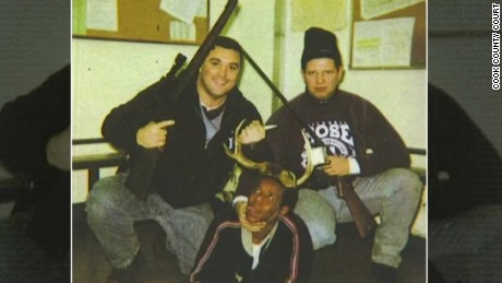 chicago white police pose with black man wearing antlers dnt_00000726.jpg
