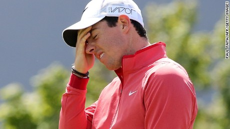 A look which says it all. Rory McIlroy endured a sorry start to his Irish Open challenge.