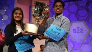 The National Spelling Bee co-champions are ...