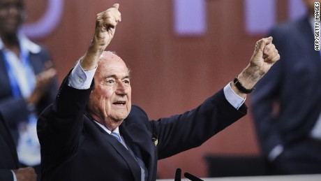 How did FIFA president get re-elected?
