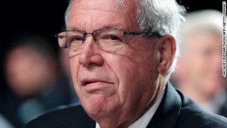 Dennis Hastert, former speaker of the US House of Representatives, attends the annual meeting of the Iranian resistance, presided over by the National Council of Resistance of Iran (NCRI) in Villepinte, near Paris, on June 22, 2013.