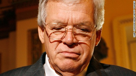 Former Speaker of the House Dennis Hastert (R-IL) speaks with reporters after delivering his farewell address to Congress November 15, 2007 in Washington, D.C.