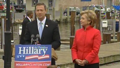 Martin O'Malley endorses Hillary Clinton for president on May 9, 2007.
