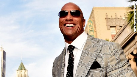 """Actor Dwayne Johnson arrives at the premiere of Warner Bros. Pictures' """"San Andreas"""" at the Chinese Theatre on May 26, 2015 in Los Angeles, California."""