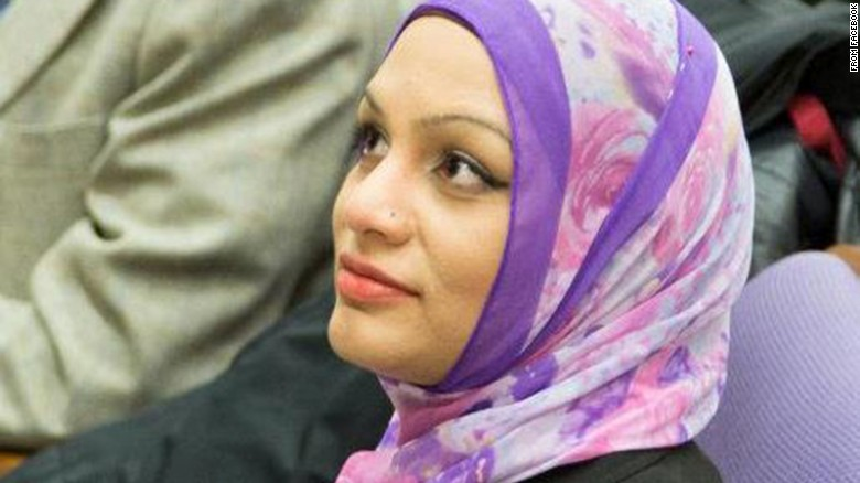 Tahera Ahmad, who is Muslim, said she was discriminated against on a United Airlines flight. (Facebook profile picture)