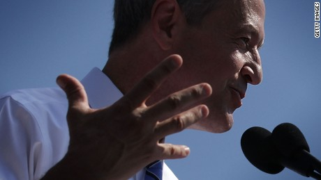 Former Maryland Gov. Martin O'Malley speaks during an event to announce his candidacy for a presidential campaign May 30, 2015 at Federal Hill Park in Baltimore, Maryland.
