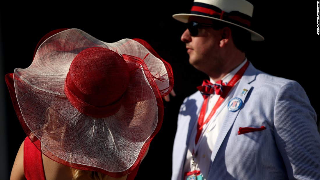 People arrive for the Kentucky Derby on Saturday, May 2. American Pharoah was the favorite going into the race.