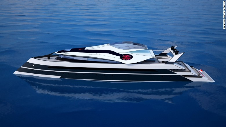 The sleek Monaco 2050 yacht as envisioned by Russian designer Vasily Klyukin.