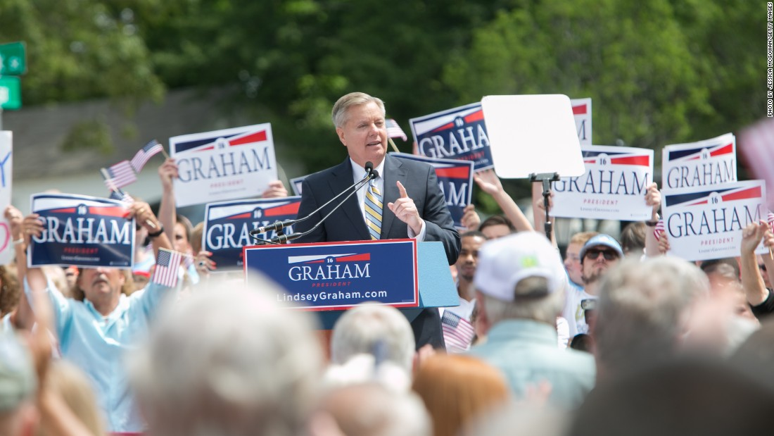 "South Carolina Sen. Lindsey Graham made himself the ninth Republican candidate to announce his candidacy. Graham <a href=""http://www.cnn.com/2015/06/01/politics/lindsey-graham-presidential-announcement-election-2016/index.html"">launched his bid</a> in Central, S.C., on June 1. Graham is betting his foreign policy experience will set him apart from other potential contenders. <br /><br />""I want to be President to defeat the enemies trying to kill us, not just penalize them or criticize them or contain them, but defeat them,"" he said at his kickoff event."