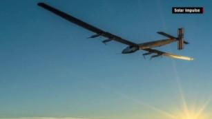 Solar plane tries to circle the globe