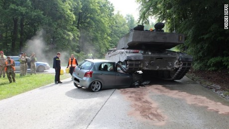 The total damage to the Toyota car is expected to cost around 12,000 Euros ($13,359).