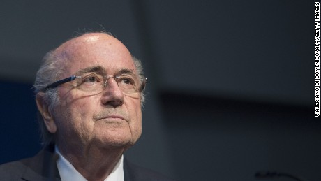 FIFA President Sepp Blatter holds a press conference at the headquarters of the world's football governing body in Zurich on June 2, 2015.