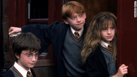 """Harry Potter and the Sorcerer's Stone,"" the first film in the eight-part franchise, was released in 2001."