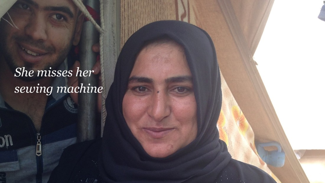 Her sewing machine: Rasha is a seamstress and says she loves the work.
