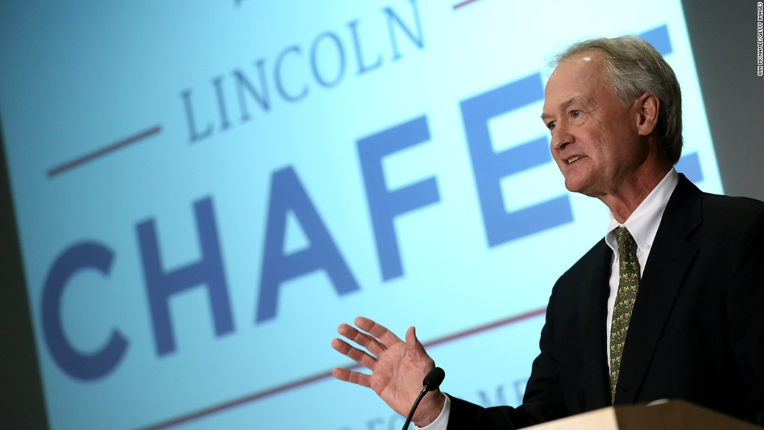 "Former Rhode Island Governor Lincoln Chafee jumped into the 2016 presidential race on June 3 at George Mason University in Virginia. Chafee previously served in the Senate as a Republican and as an Independent governor. He's now running for president as a Democrat.<br /><br />""I enjoy challenges and certainly we have many facing America,"" Chafee <a href=""http://www.cnn.com/2015/06/03/politics/lincoln-chafee-2016-election-announcement/index.html"">said during his announcement</a>."