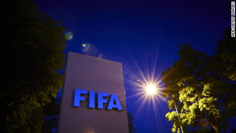 The FIFA logo is pictured at the FIFA headquarters on June 2, 2015 in Zurich. Blatter on June 2, 2015 resigned as president of FIFA as a mounting corruption scandal engulfed world football's governing body. The 79-year-old Swiss official, FIFA president for 17 years and only reelected on May 29, said a special congress would be called as soon as possible to elect a successor. AFP PHOTO / MICHAEL BUHOLZERMICHAEL BUHOLZER/AFP/Getty Images