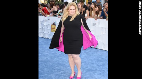 LOS ANGELES, CA - APRIL 12: Actress Rebel Wilson attends The 2015 MTV Movie Awards at Nokia Theatre L.A. Live on April 12, 2015 in Los Angeles, California. (Photo by Jason Merritt/Getty Images)