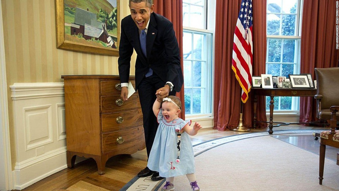 "Here's one demographic with which President Obama seems to not have much trouble: children. White House photographer Pete Souza regularly captures Obama playing with small visitors, saying: ""Some are serious and some are humorous. And of course, some are with babies (since the President loves babies)."""