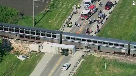Amtrack train collides with truck _00000000