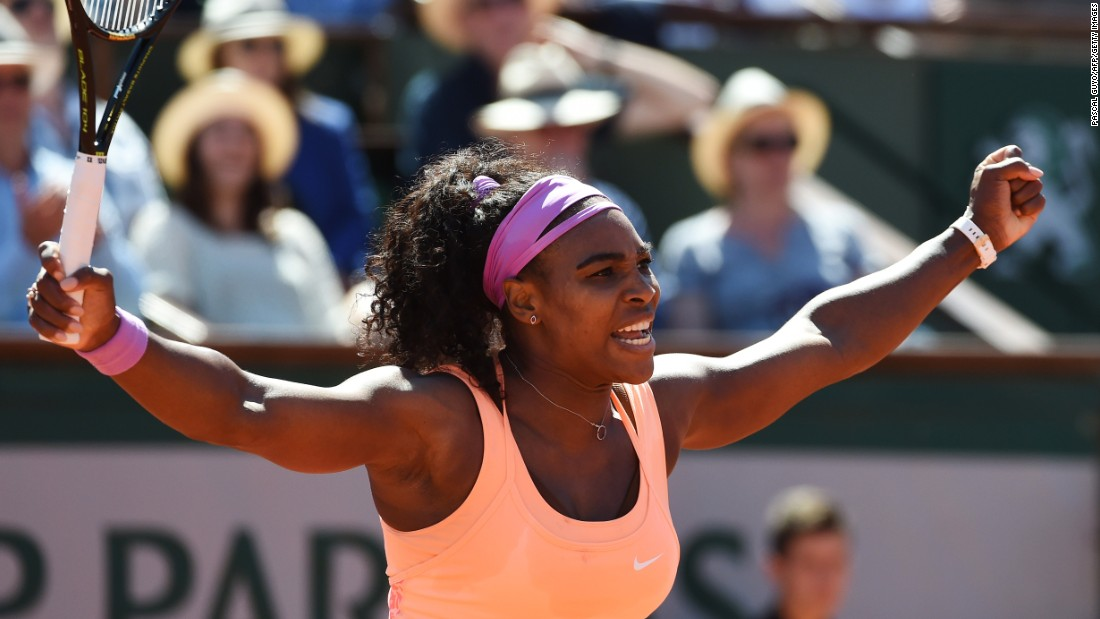 A pumped up Williams showed little sign of the illness reportedly troubling her as she took the first set 6-3.