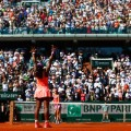 serena williams celebrates french open
