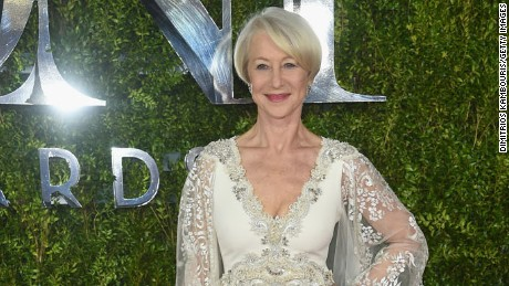 NEW YORK, NY - JUNE 07:  Actress Helen Mirren attends the 2015 Tony Awards  at Radio City Music Hall on June 7, 2015 in New York City.  (Photo by Dimitrios Kambouris/Getty Images for Tony Awards Productions)