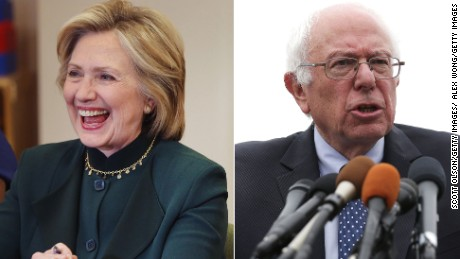 Hillary Clinton rises in polls above Bernie Sanders