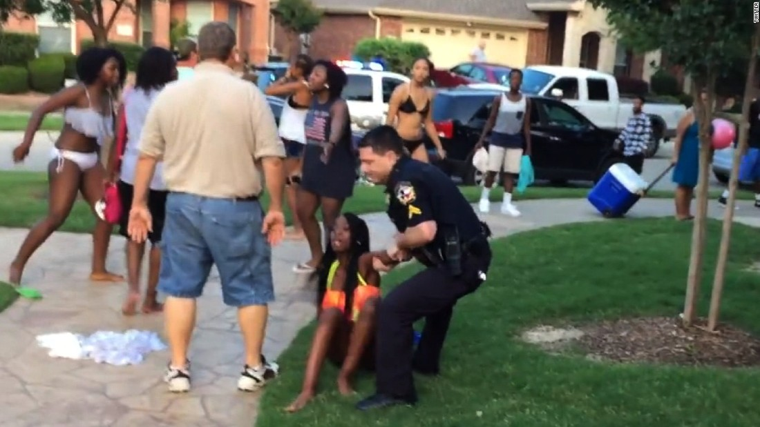 "Officer Eric Casebolt resigned on June 9, days after a YouTube video showing his response to reports of fighting at a <a href=""http://www.cnn.com/2015/06/08/us/mckinney-texas-pool-video/"" target=""_blank"">McKinney, Texas, pool party </a>sparked swift allegations of racism. Critics decried the white officer for cursing at several black teenagers, unholstering and waving his gun at boys and throwing a 14-year-old girl to the ground, his knees pressed down on her back. Casebolt's attorney said race had nothing to do with how the officer responded."