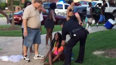 Pool party chaos in Texas suburb