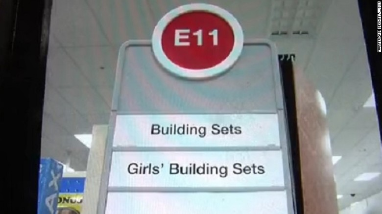 Target toy aisle sign sparks gender criticism
