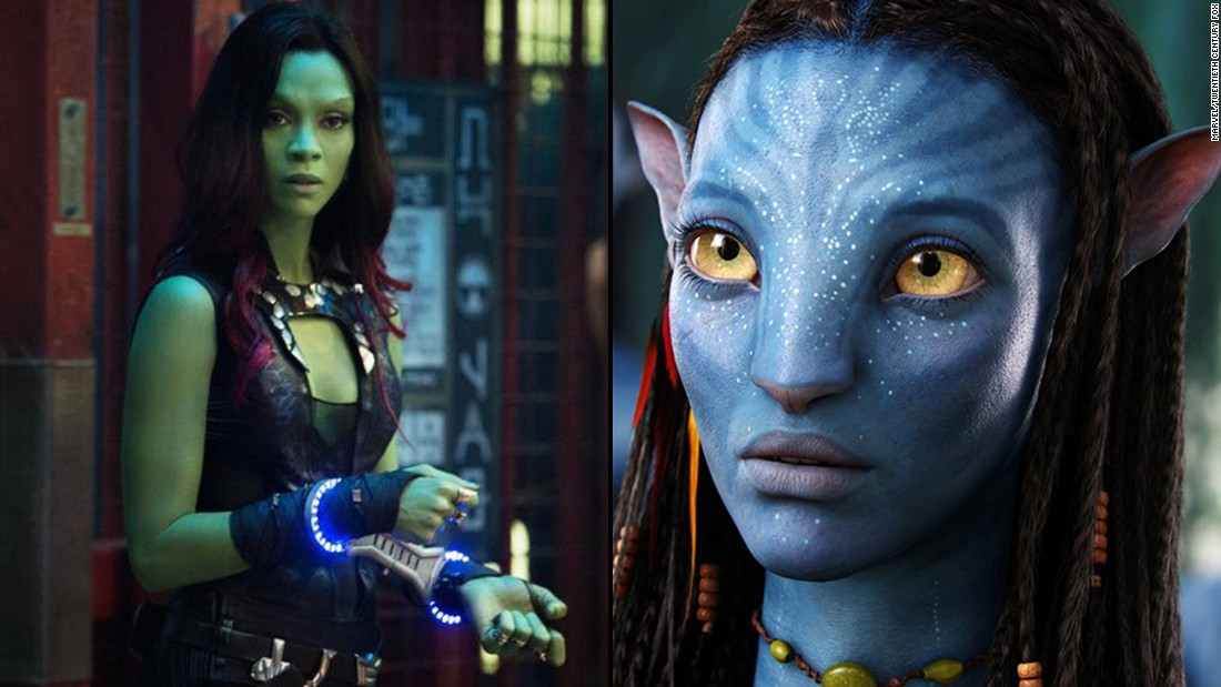 "Zoe Saldana stars in not one but three major sci-fi movie franchises. She's Lt. Nyota Uhura in the rebooted ""Star Trek"" movies, stars as former assassin Gamora in the Marvel hit ""Guardians of the Galaxy"" and is Neytiri in ""Avatar"" and its planned sequels."