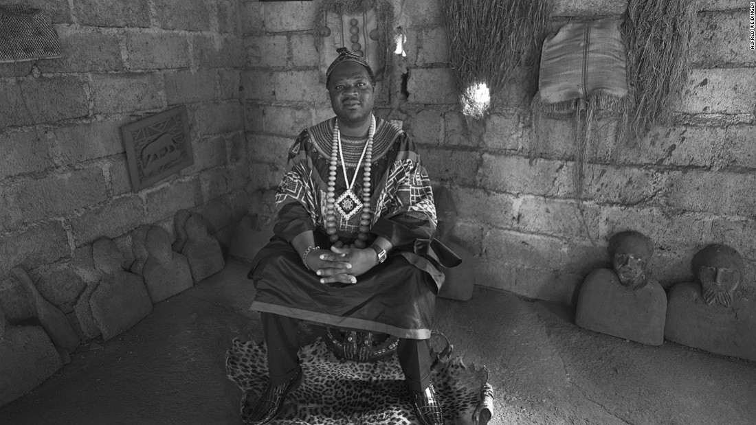 Fo Njitack Ngompe Pele of Bafoussam in the West Province. Fos are sub-chiefs, whose role is to assist the chief.